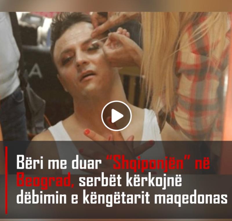 """Bëri me duar """"Shqiponjën"""" në Beograd, serbët"""