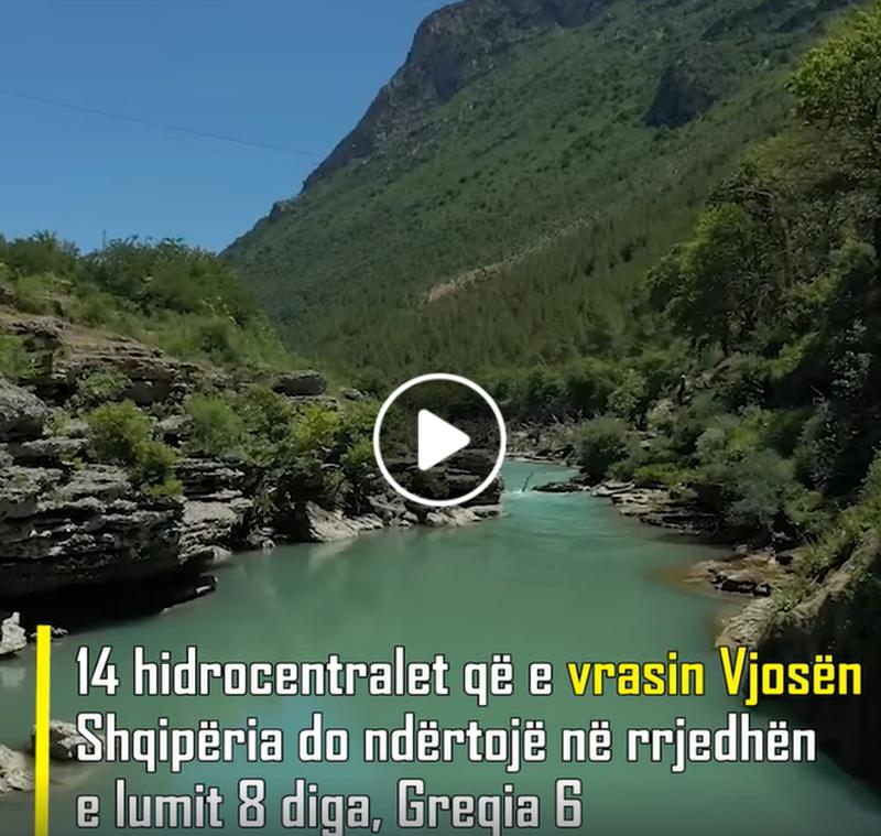 14 hidrocentralet që e vrasin Vjosën/ Shqipëria do