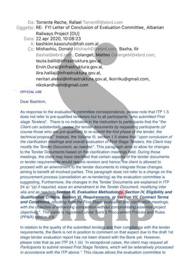 Ekskluzive/ Zbulohen emaile-t e BERZH drejtuar Ballukut: Ke parregullsi tek