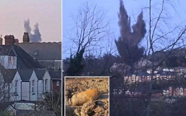 Shpërthen bomba e luftës II Botërore në Britani, zhurma