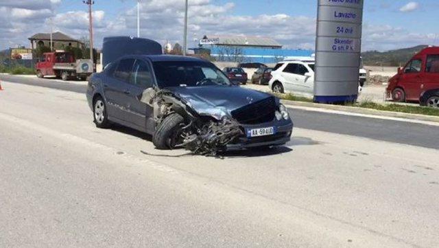 Aksident në aksin Berat-Moravë, Benzi humb kontrollin nga