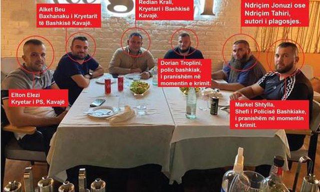 PD nxjerr foton: Autori i plagosjes në Kavajë në tavolinë me