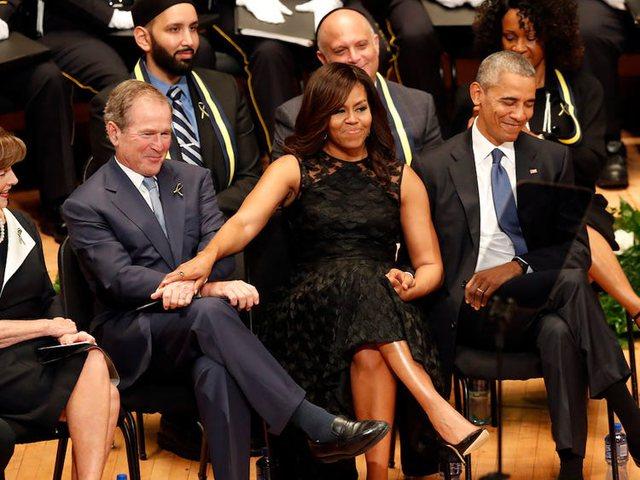 Shoqëria me Michelle Obama komentohet nga amerikanët, reagon George