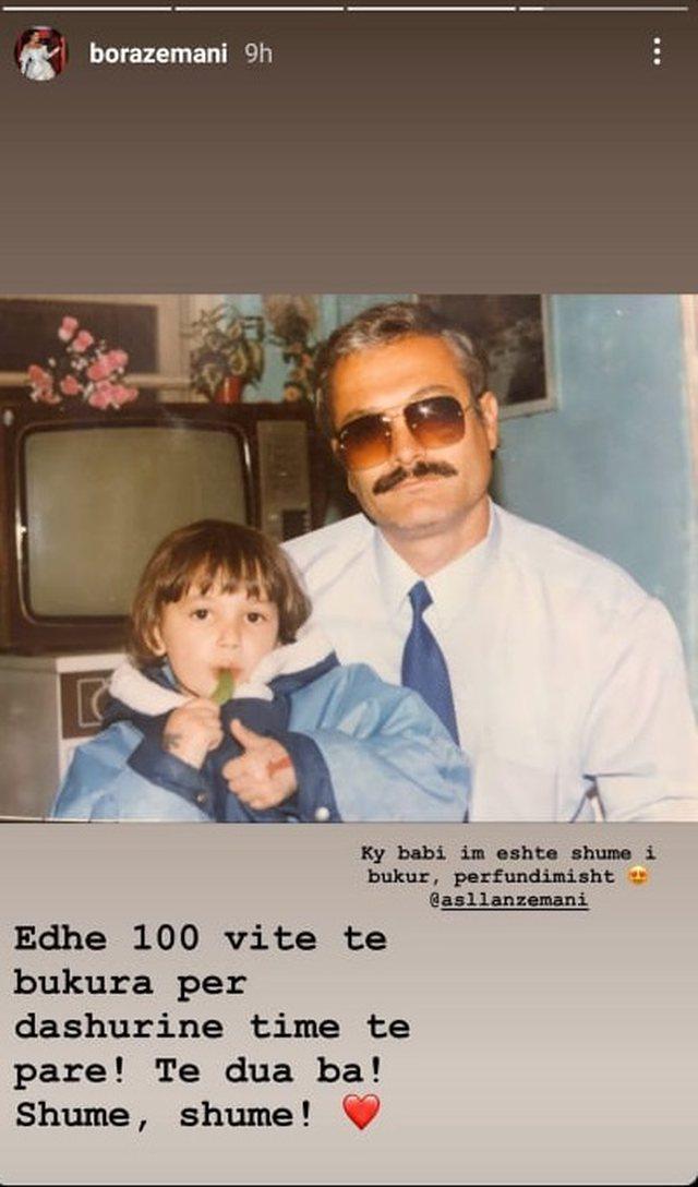 Bora Zemani foto me Kolonelin: Gëzuar ditëlindjen dashuria ime e