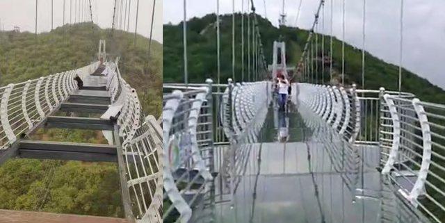 Shkatërrohet ura prej xhami, turisti mbetet i varur në lartësi