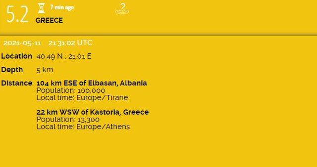 Termeti 5.2 rihter shkund Greqine, lekundjet ndjehen ne disa qytete te