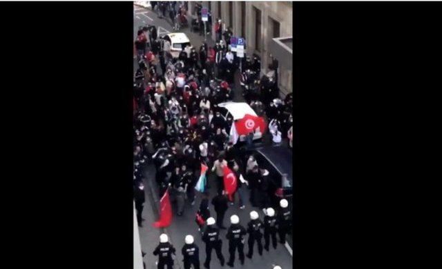 Gjermanët shpërthejnë në protesta kundër Izraelit