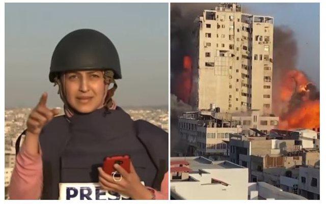 Raketa godet ndërtesën 14-katëshe, gazetarja e tmerruar