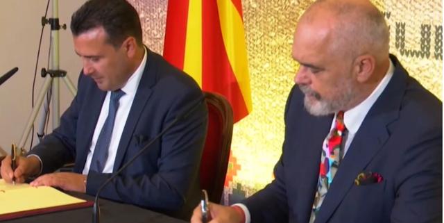 Rama dhe Zaev firmosin marrëveshjen mbi ngritjen e pikave të
