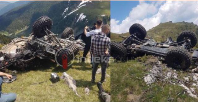 Pamje të frikshme: Makina rrokulliset mes maleve në Deçan,