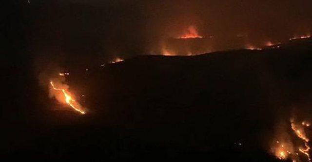 Zjarr i madh në Lunxherie të Gjirokastrës, dyshohet se