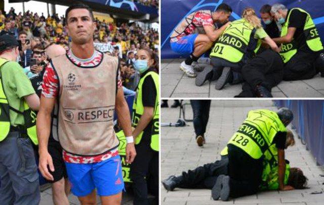 Kristiano Ronaldo e goditi me top, roja e sigurisë shtrihet në