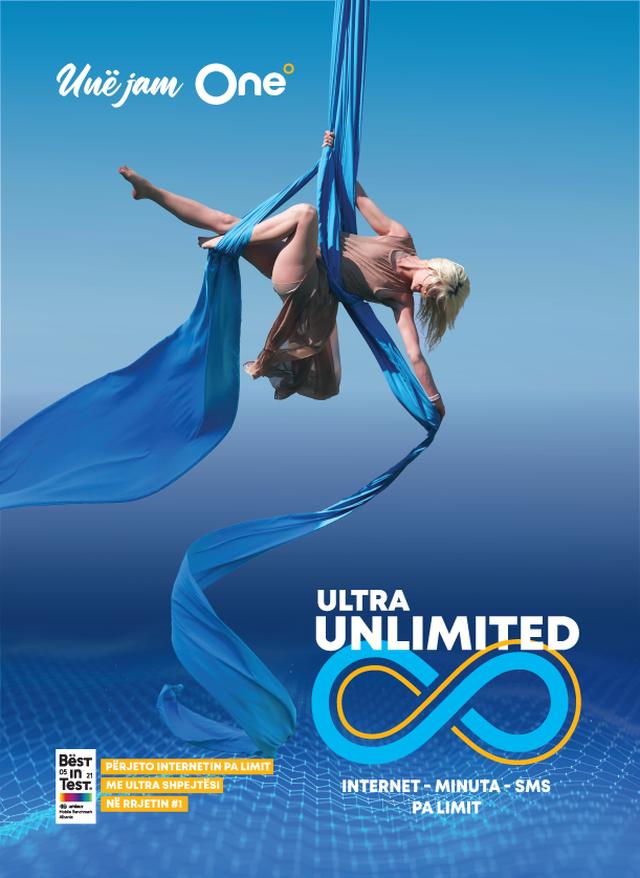 One sjell Ultra Unlimited për ultra Komunikim! Interneti pa limit, me ultra