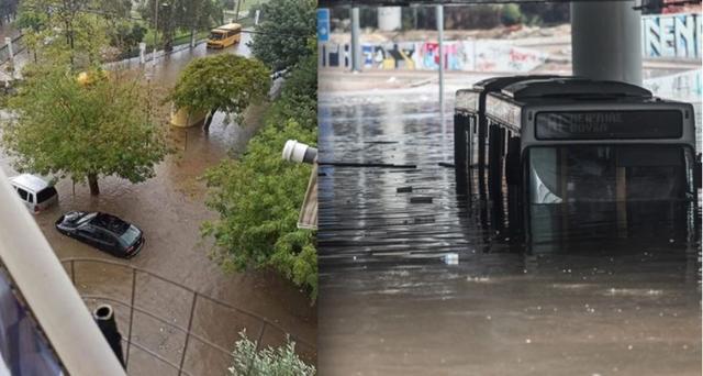 Greqi, autobusi fundoset në ujë, qytetarët kapen për dore