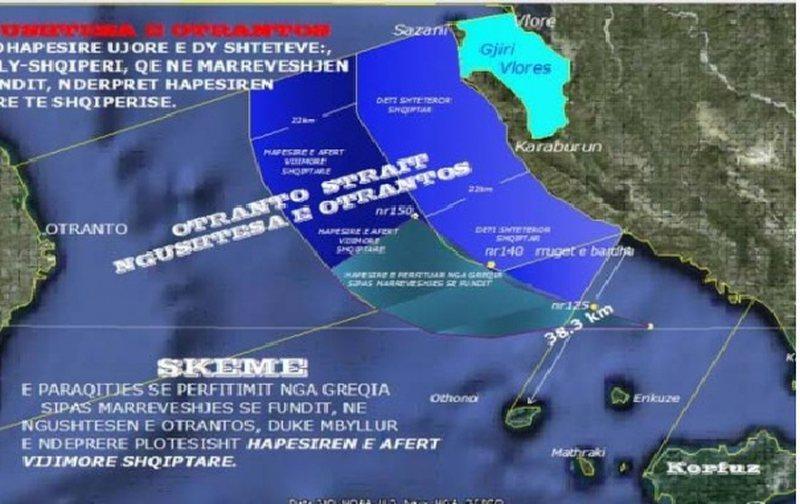 Greqia zgjeron me 12 milje kufirin detar me Shqipërinë, Athina miraron