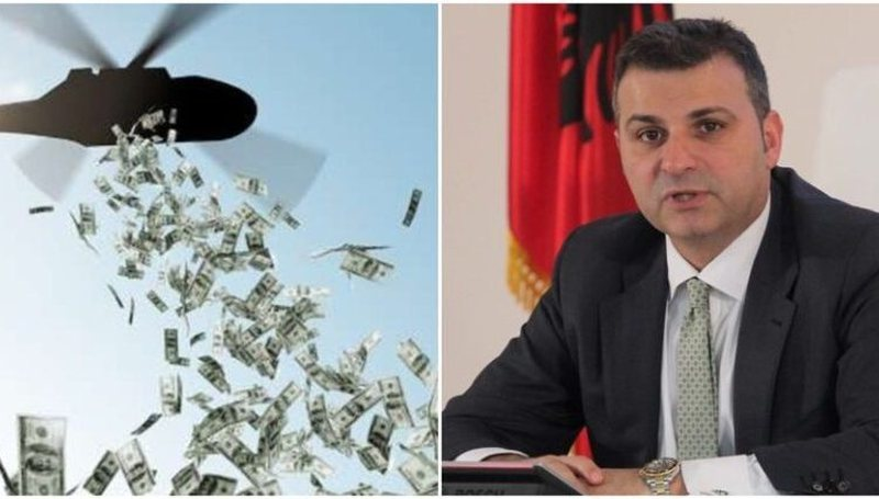 Do të shpërndahen para me helikopter për shqiptarët?