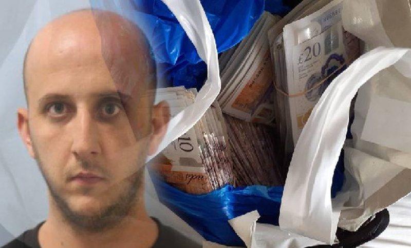 Drogë e klasit A dhe 181 000 paund 'cash', burgoset