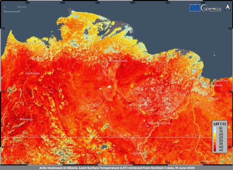 Nivel rekord temperaturash në Arktik, qershori, më i nxehti i