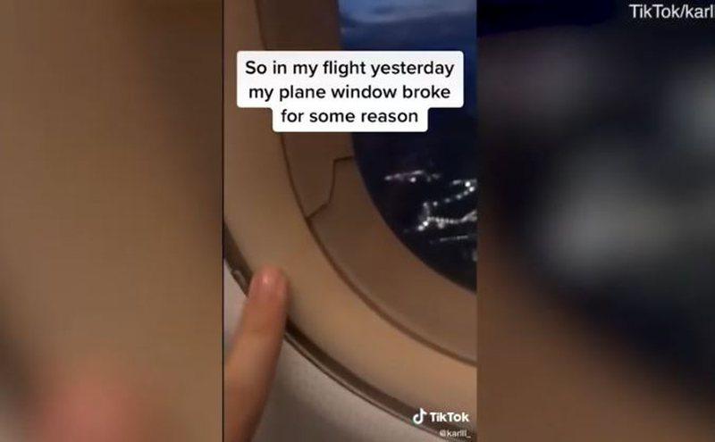 Plasaritet dritarja e avionit, video tregon si reaguan pasagjerët