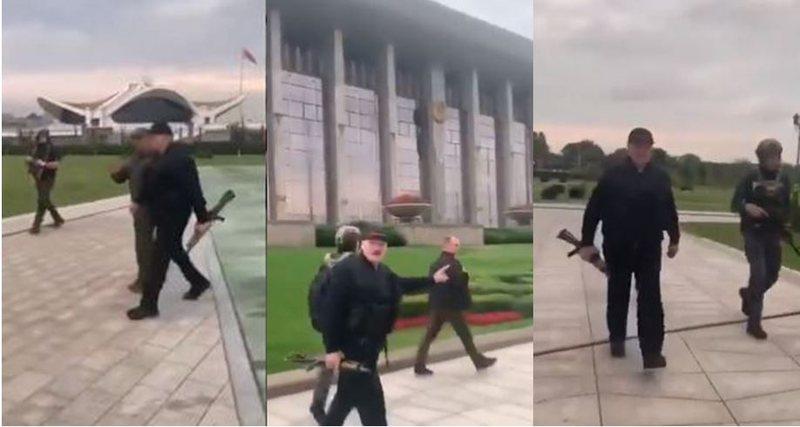 Lukashenko vesh anti-plumbin dhe del kundër protestave me automatik në
