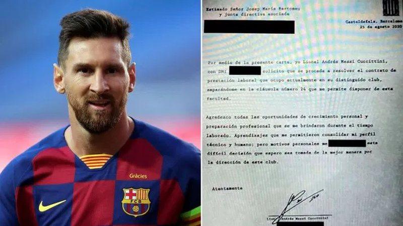 Publikohet letra zyrtare, Lionel Messi kërkon largimin nga Barcelona