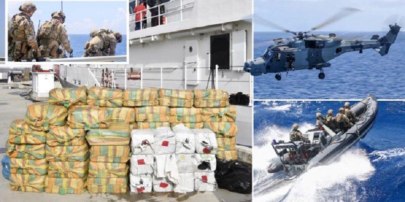 Marina e SHBA e Britanisë kapin 200 milionë euro drogë në