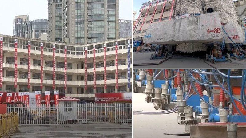 Video/ Ndërtesa që 'ecën', Shangai zhvendos