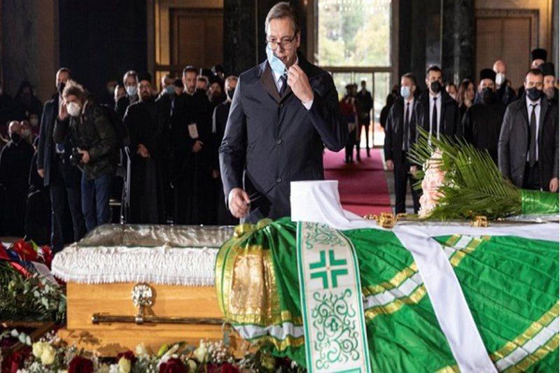 Vuçiç në varrimin e Patriarkut Irenej: Donte të mos