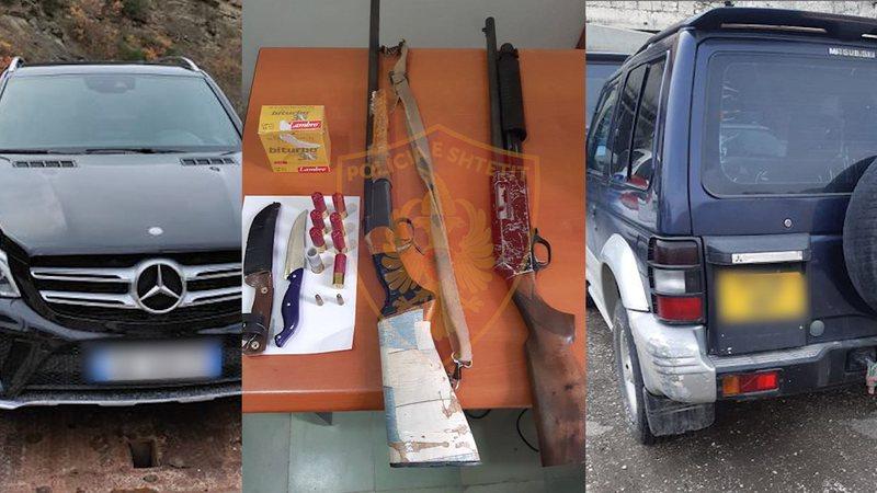 Drogë, armë dhe thika, 5 të arrestuar në Skrapar