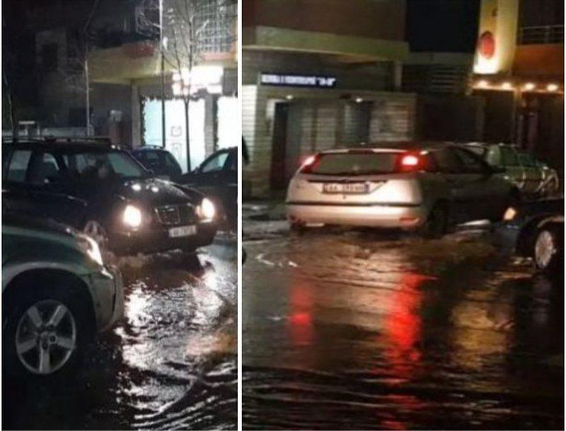 Kaos në Durrës, uji arrin 1 metër, përmbyten banesat në