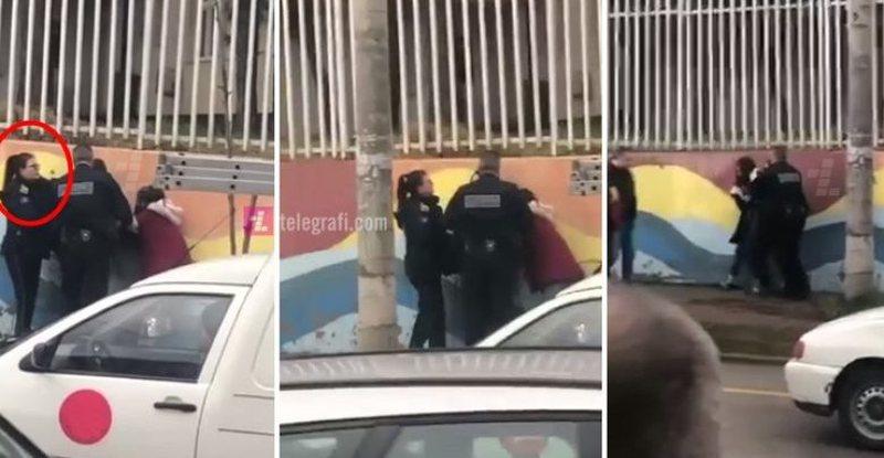 """""""Ti mu lopë a?"""", policja godet me grushta vajzën e mitur"""