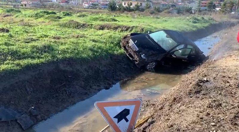 """Shmangu aksidentin, Benzi """"fluturon"""" në kanal"""
