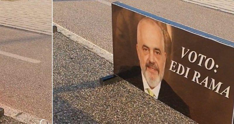 """""""Voto Edi Ramën"""", posterat mbushin Vlorën 3 muaj para"""
