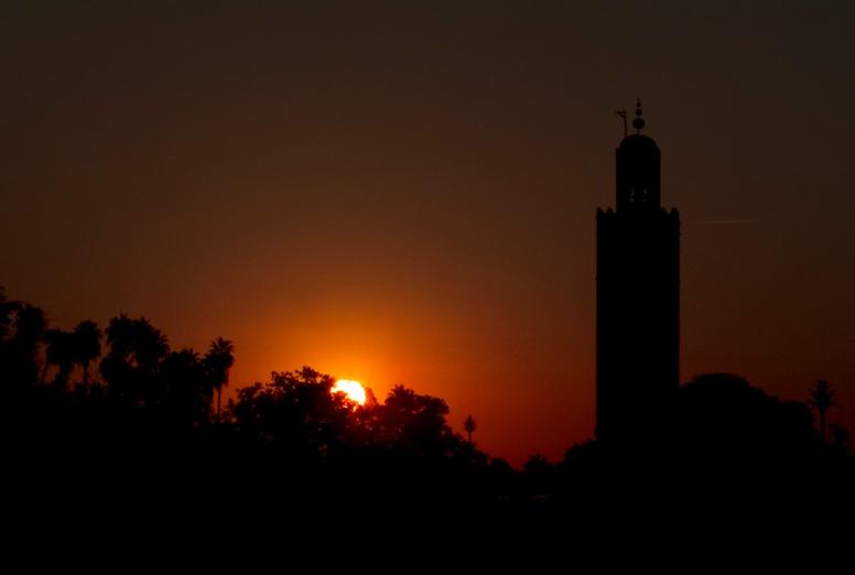 Jemaa el fna anochecer sunset
