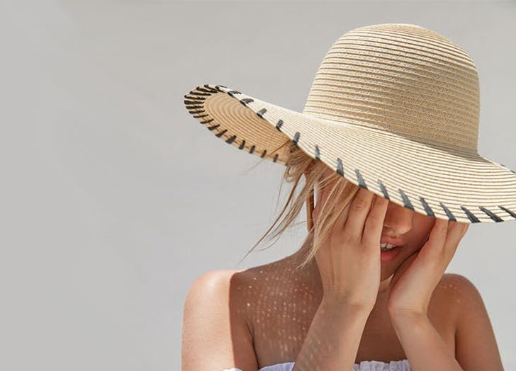 If your face is square try a wide brim floppy hat
