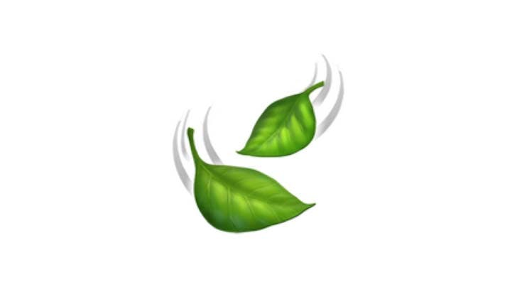 fluttering leaf emoji