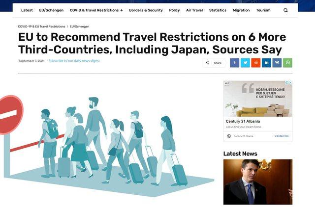 BE redukton listën e vendeve të sigurta për udhëtimet, hiqet