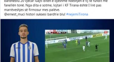 Tirana shet talentin bardheblu, Ernest Muçi transferohet tek gjigandi