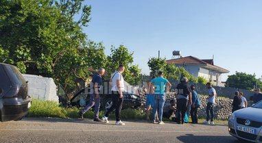 Aksidenti ka ndodhur në aksin rrugor Elbasan-Tiranë, makina del nga