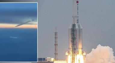 Dalin pamjet nga momenti kur u rrëzua raketa kineze në Oqeanin Indian