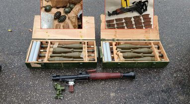 Predha, mitralozë dhe granata, çfarë i gjeti policia 5