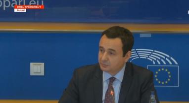 Kurti në Parlamentin Evropian: Kosova në tryezën e bisedimeve nuk
