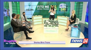 """VIDEO/ Shorteu Birra Tirana në emisonin """"Rrugëtim me"""