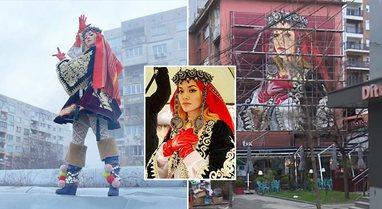 Një mural gjigant në mes të qytetit, Ferizaj nderon Rita
