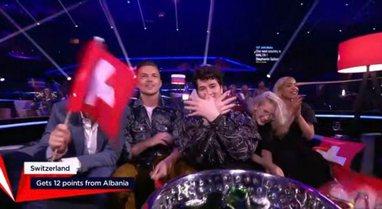 Shqipëria dhuron 12 pikët për Zvicrën, Shqiptari falenderon