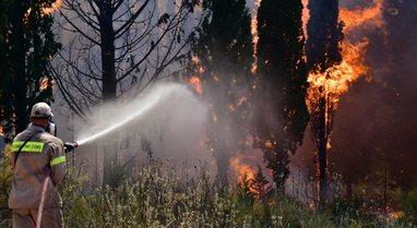 Vazhdon 'beteja' me zjarrin në Greqi, zona të tëra me