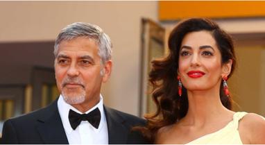 Aktori George Clooney dhe Amal Clooney prindër për herë të