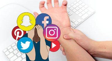 Media sociale po shkakton probleme nervore, simptoma të ngjashme me