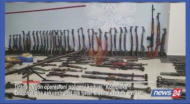 Pamje të reja nga depoja e armëve, reagon policia: Sekuestruam qindra