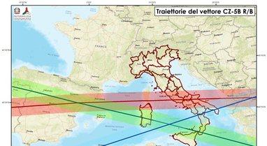 Ja ku kanë hyrë mbetjet e raketës kineze, Italia